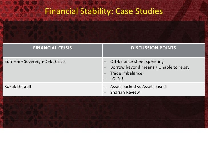 Debt and macroeconomic stability case studies