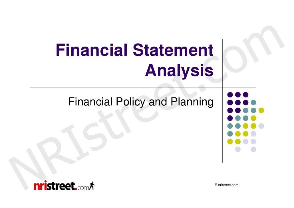 Financial Statement                                 c o m                   t .               Analysis                 e  ...