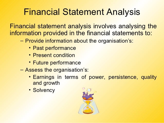 Financial Statement AnalysisFinancial statement analysis involves analysing theinformation provided in the financial state...