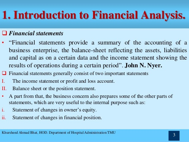 Statement Analysis Financial Statement Analysis Financial Statement