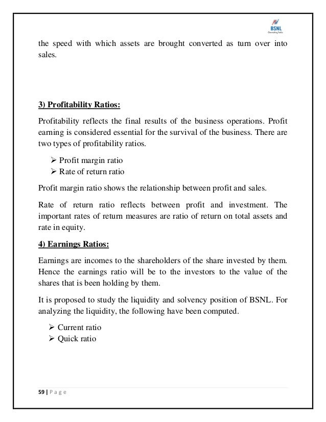Financial Statement Analysis At Bsnl