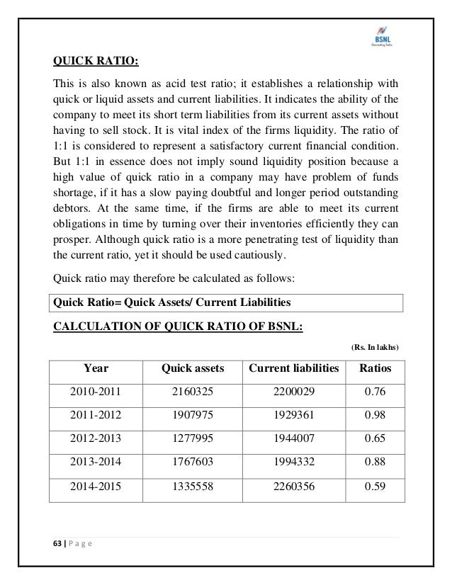 ratio analysis of bsnl and bharti Analysis of pre and post-acquisition financial performance in bharti airtel and to study the liquidity ratio analysis of pre and post-acquisition in bharti airtel finally, this study assesses the leverage ratios and growth ratio analysis of.