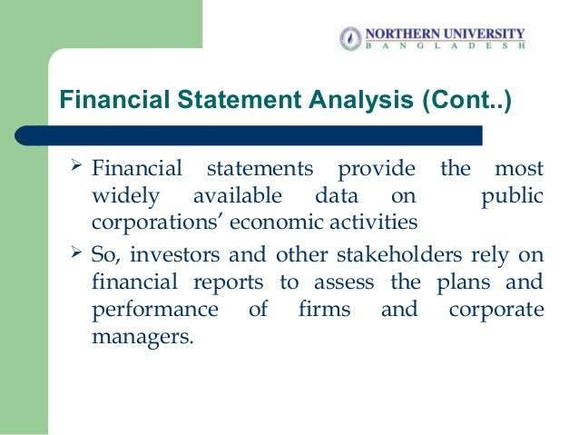 Financial Statement Analysis and Financial Models Slide 3