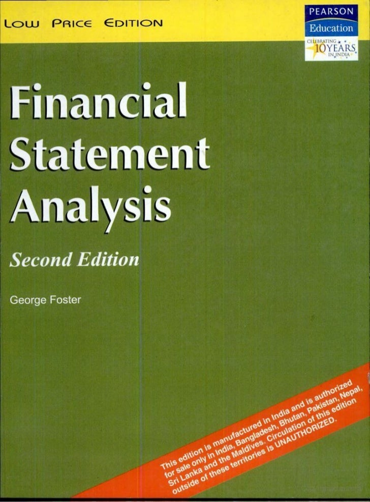 Statement Analysis By George Foster