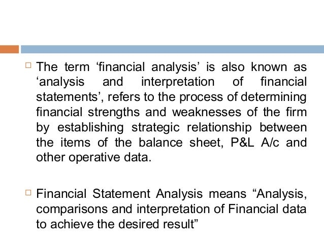 Financial Statement Analysis Types & Techniques
