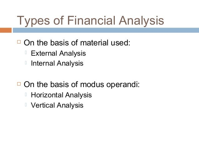 Financial Statement Analysis Types  Techniques
