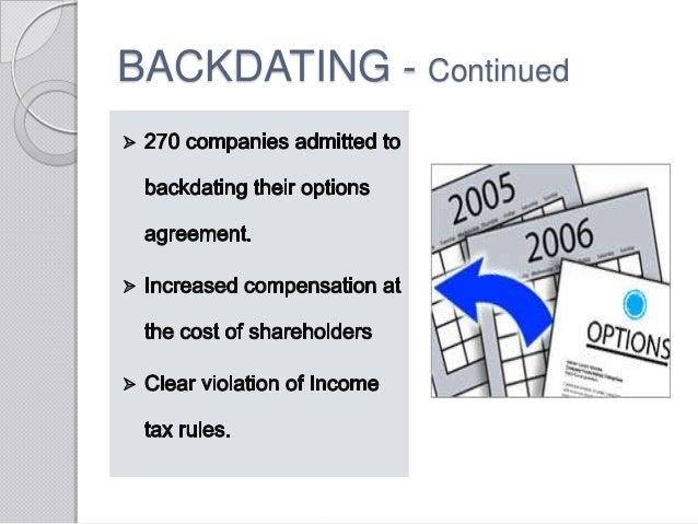 Backdating notarized documents expiration