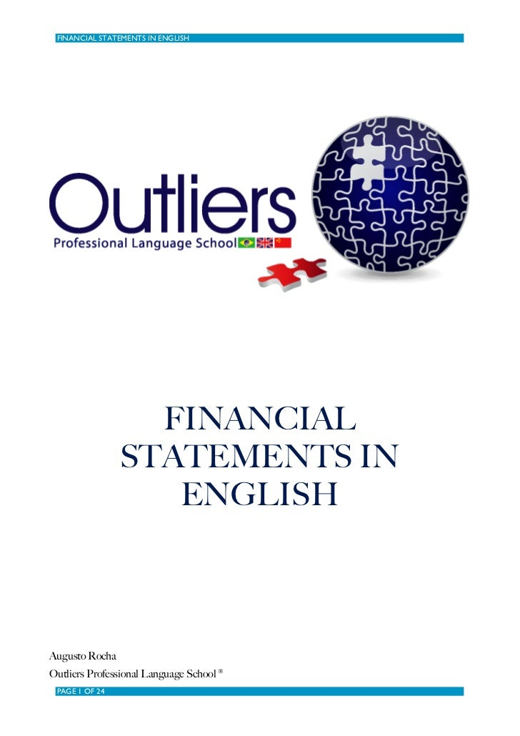 FINANCIAL STATEMENTS IN ENGLISH                  FINANCIAL                STATEMENTS IN                   ENGLISHAugusto R...