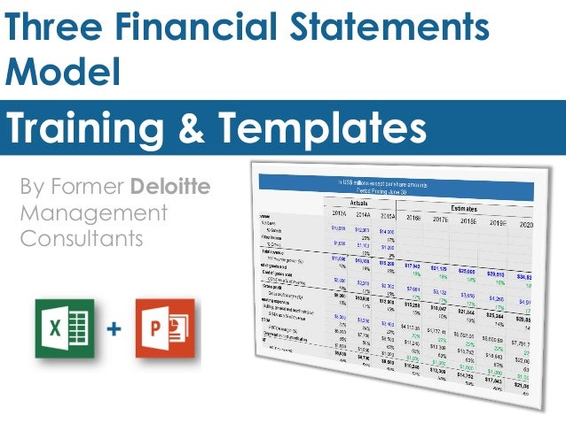Three Financial Statements Model Template