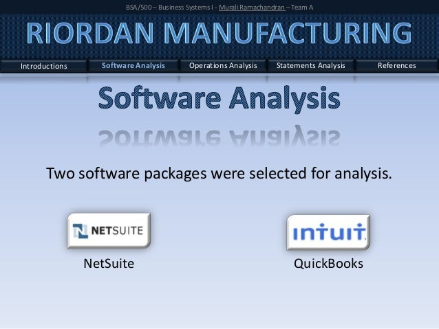 Riordan Manufacturing Analysis