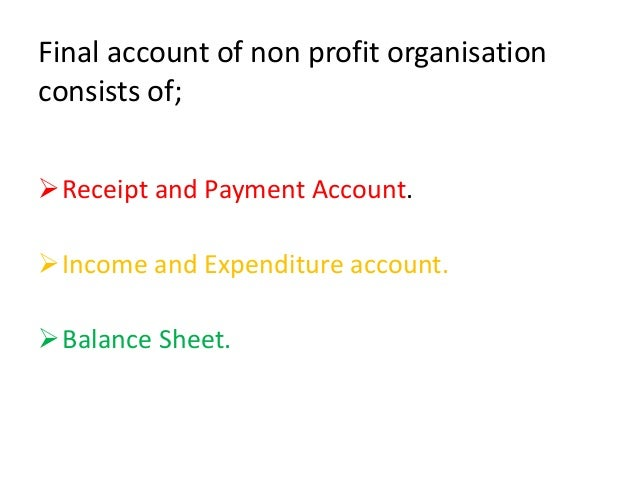 financial statement of non