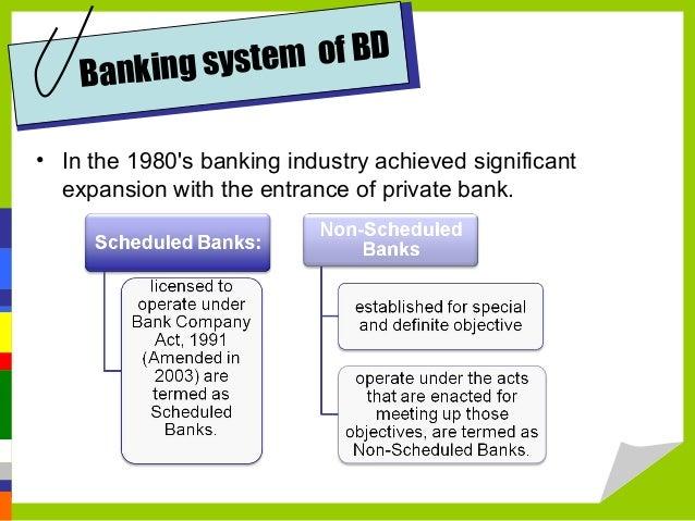 Financial system Bangladesh vs  U S A