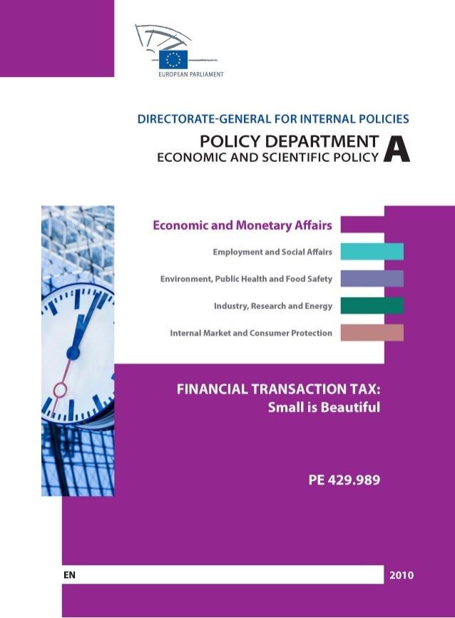 Financial Transaction Tax: Small is Beautiful_____________________________________________________________________________...
