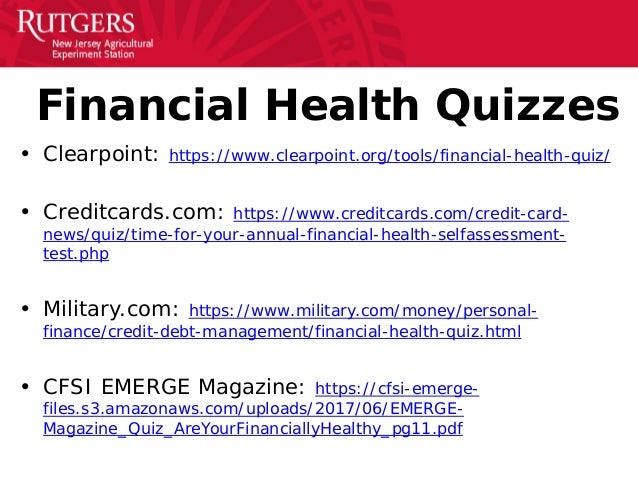 Financial Wellness Presentation at Rutgers