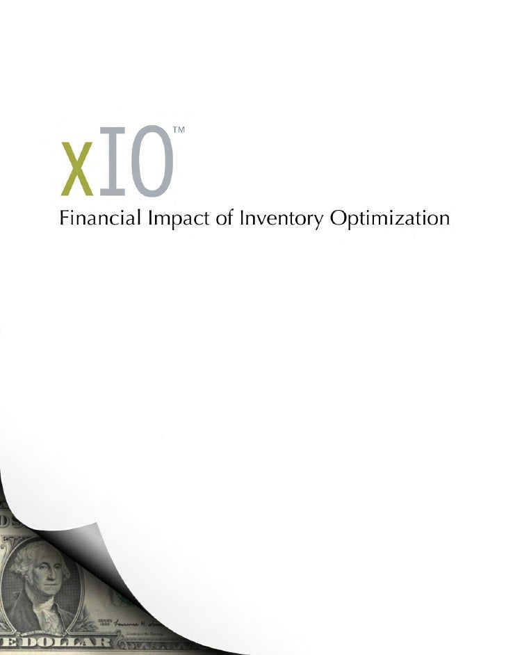 Financial Impact of MRO Inventory Optimization By Michael Hasley and Nadine Marcy  Over the past decade we have been invol...