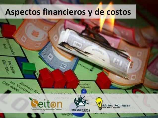 Aspectos financieros y de costos