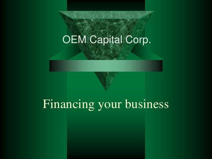 Financing your business<br />