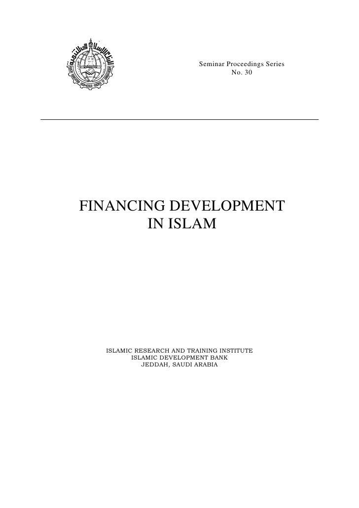 Financing development in islam