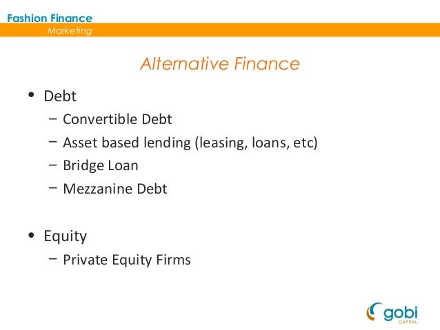 an alternative to traditional equity and debt financing is leasing Alternative business loans: 9 alternative financing options for small businesses kabbage vs ondeck capital vs paypal – who offers the best short-term loans for small businesses top 5 bad credit business loan options for 2018.