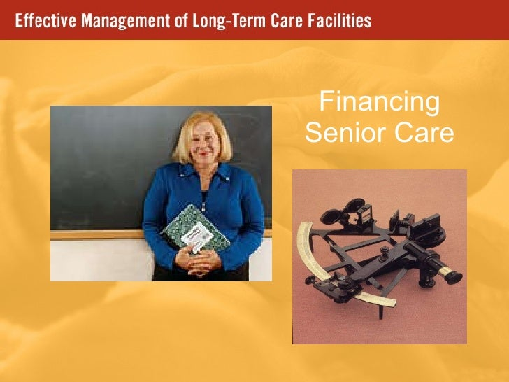 Financing Senior Care