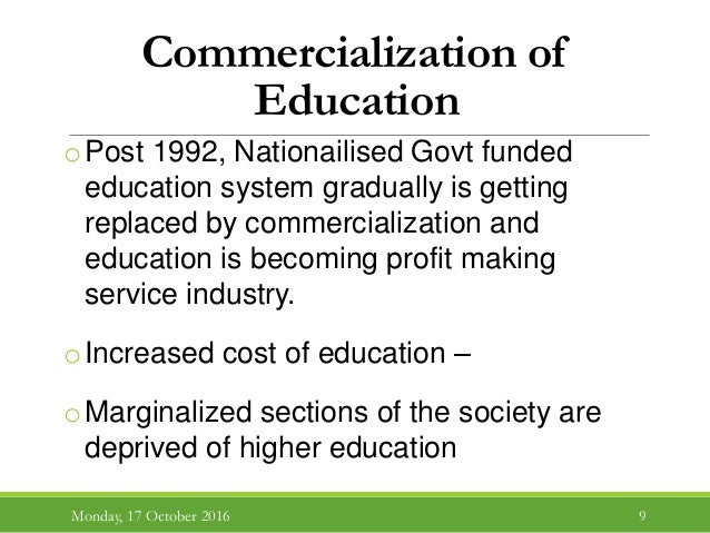 commercialization of higher education