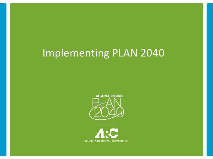 Implementing PLAN 2040