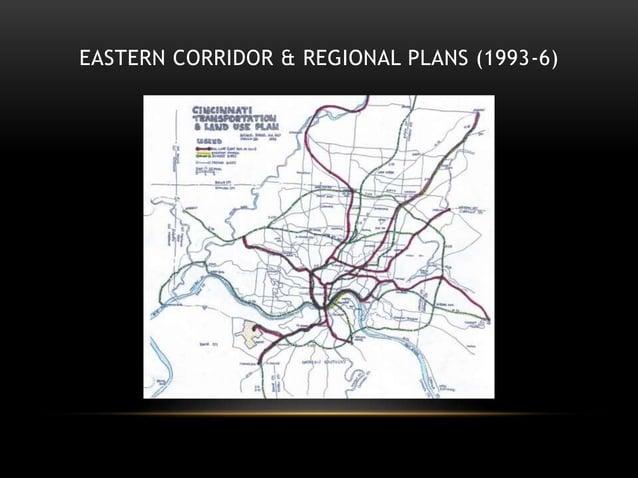 EASTERN CORRIDOR & REGIONAL PLANS (1993-6)
