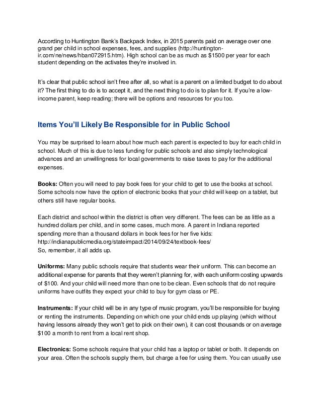 Financing your child's school year Slide 2