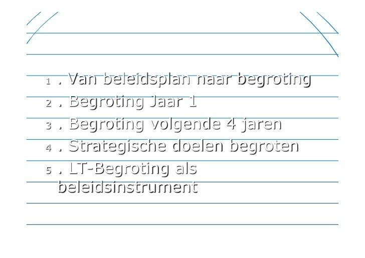 Tooldag 'Financiële planning' Slide 2