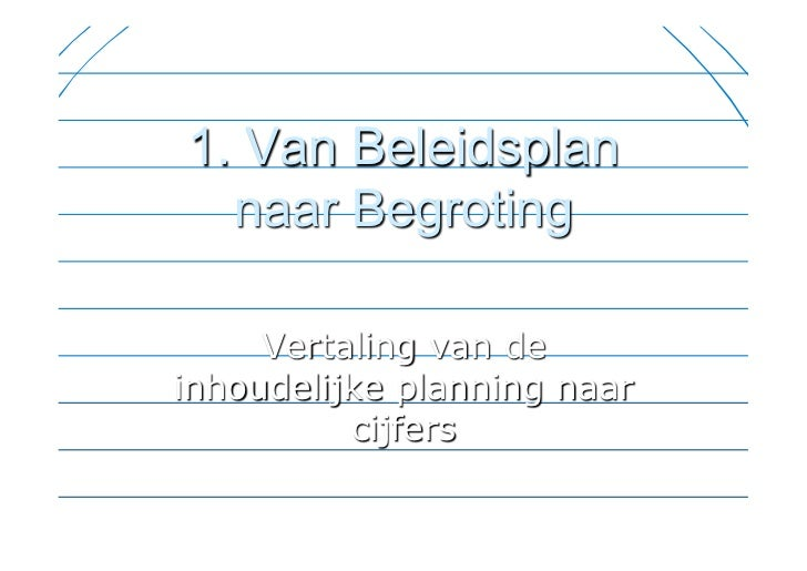 Tooldag 'Financiële planning' Slide 3