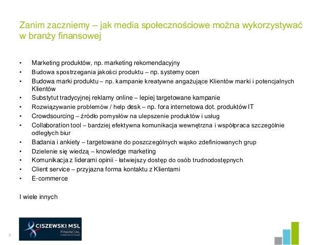 Finanse w social media Slide 2