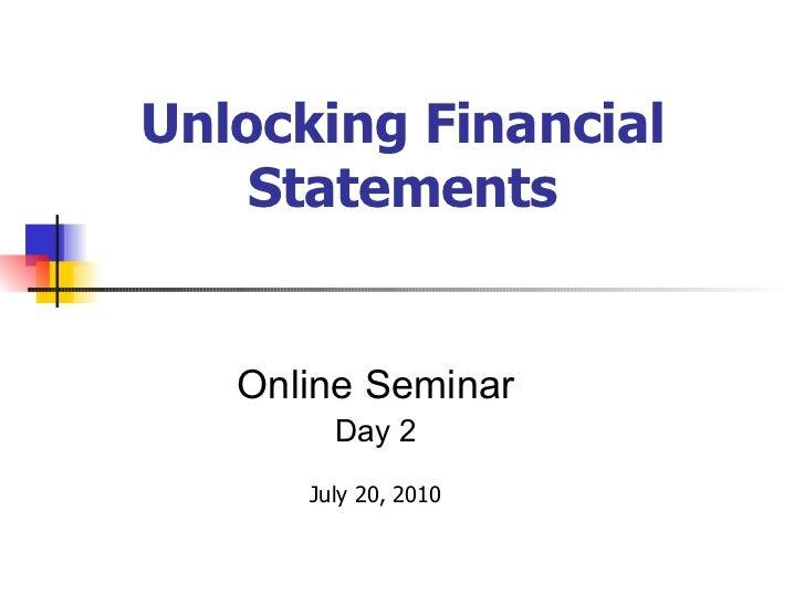 <ul><ul><ul><ul><ul><li>Online Seminar </li></ul></ul></ul></ul></ul><ul><ul><ul><ul><ul><li>Day 2 </li></ul></ul></ul></u...