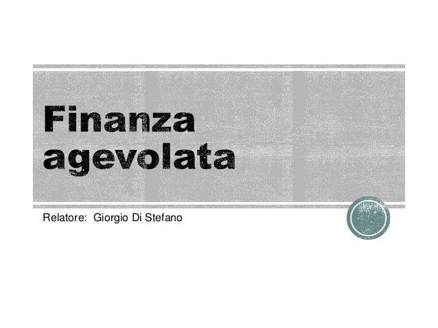 Relatore: Giorgio Di Stefano