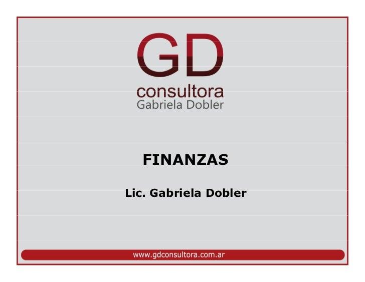 FINANZASLic. Gabriela Dobler