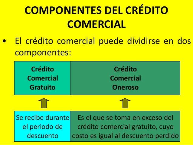 Resultado de imagen para costo de crédito comercial