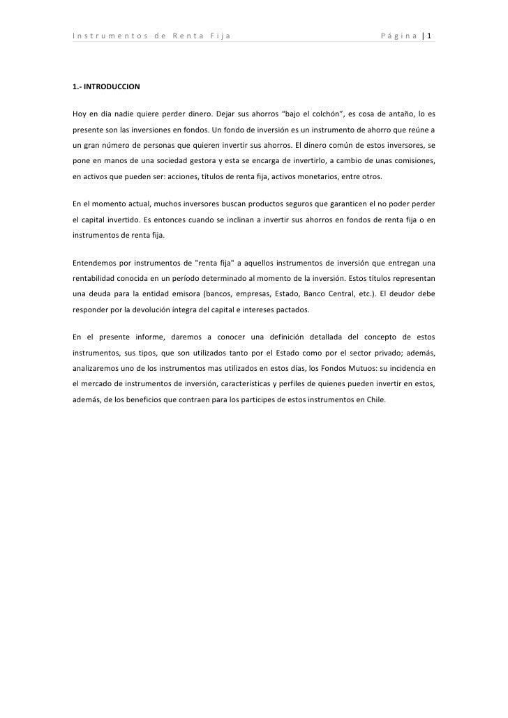 Instrumentos de Renta Fija                                                                 Pá g i n a |1     1.- INTRODUCC...