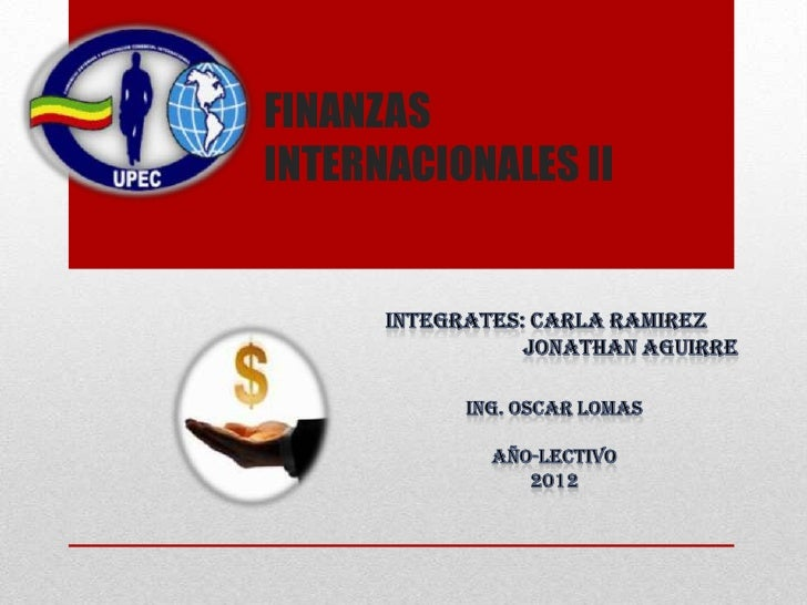 FINANZASINTERNACIONALES II