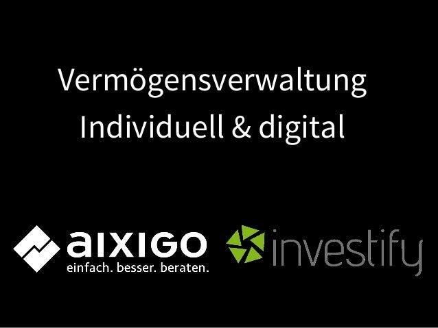 Vermögensverwaltung Individuell & digital