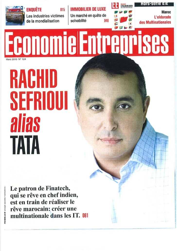 Economie / Entreprise : Rachid Sefroui, alias Tata