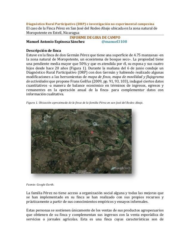 Diagnóstico Rural Participativo (DRP) e investigación no experimental campesina El caso de la...