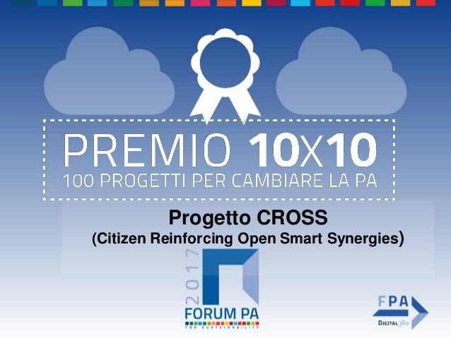 Progetto CROSS (Citizen Reinforcing Open Smart Synergies)