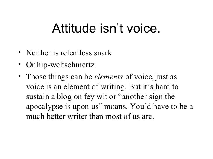 importance of voice in writing