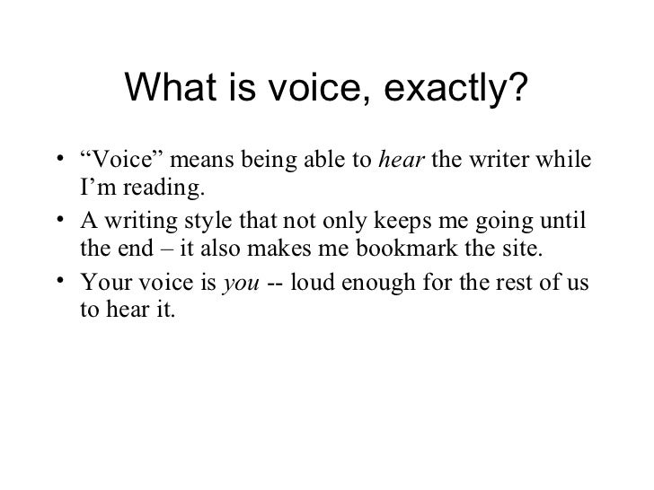 The Importance of Voice in Your Writing - Donna Freedman