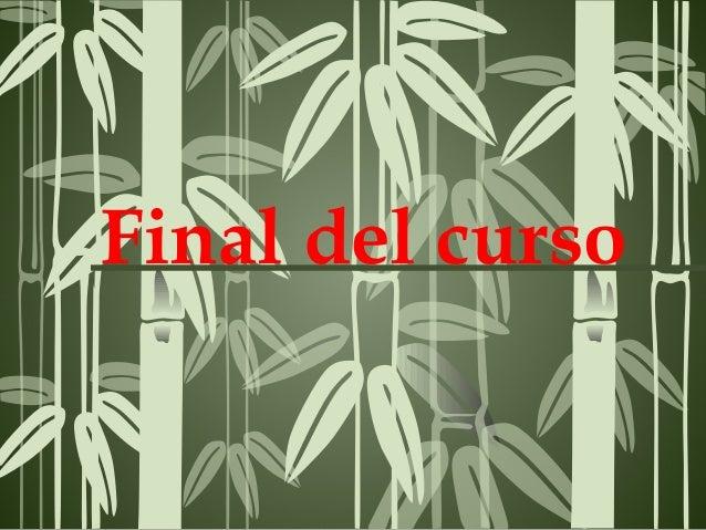 Final del curso