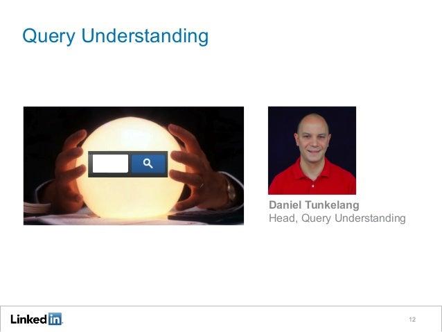 Query Understanding 12 Daniel Tunkelang Head, Query Understanding