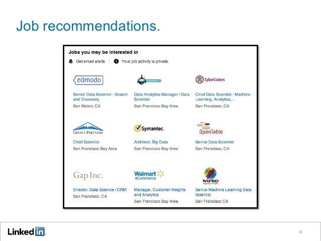 Job recommendations. 4