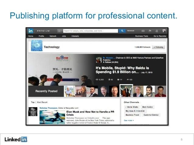 Publishing platform for professional content. 5