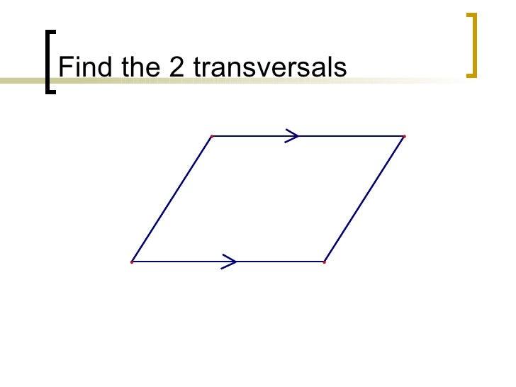 Find the 2 transversals