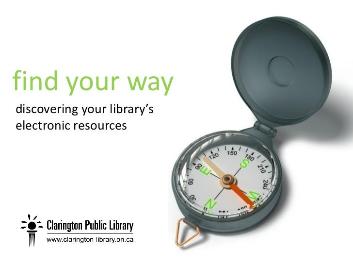 find your way discovering your library's electronic resources