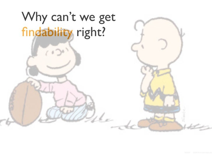 Why can't we getfindability right?• We don't know how to diagnose